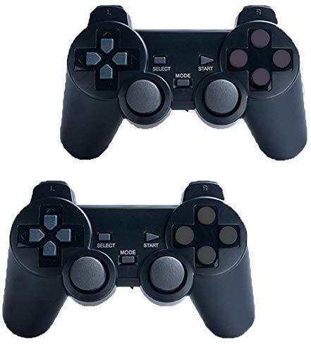 Controlador de Juego Joypad para PS2//PS3//PC // iCHOOSE Windows 7//8//10 2.4GHz Gamepad Inal/ámbrico de Vibraci/ón Dual