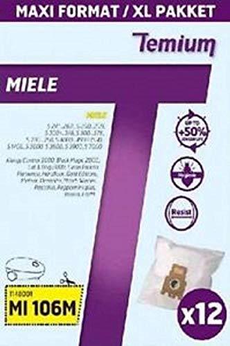Temium 599392031 Lot de 12 sacs pour aspirateur Mi106m