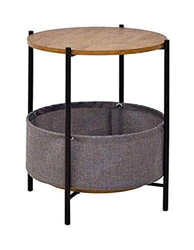 Nordic Couchtisch Kleine Runde Tisch Tulip Holz Tisch Moderne Minimalist Tipps Tisch Sofa Beistelltisch Wohnzimmer (Color : Black)
