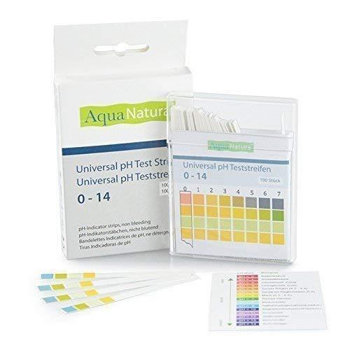 AquaNatura Wasser pH Teststreifen von 0-14 (100 Stück) Säure Basen Teststreifen