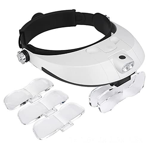 Lupa De Manos Libres, Gafas Con Diadema, Gafas De Cristal Binocular, Lupa, Gafas Con Herramienta De Reparación De Estilo De Uso Ligero