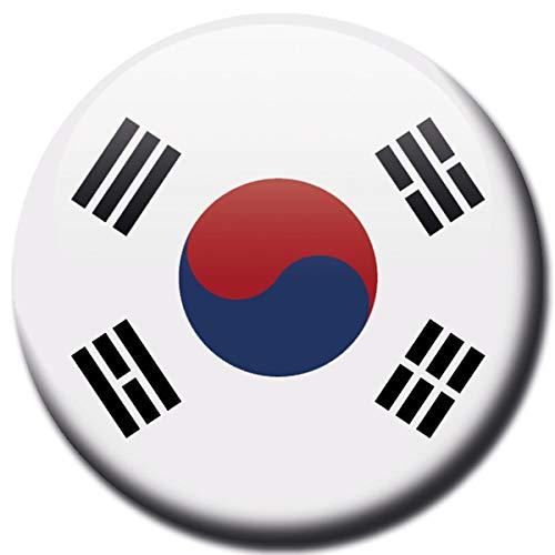 Kühlschrankmagnet Flagge Süd Korea Magnet Länder Flaggen Reise Souvenir für Kühlschrank stark groß 50 mm