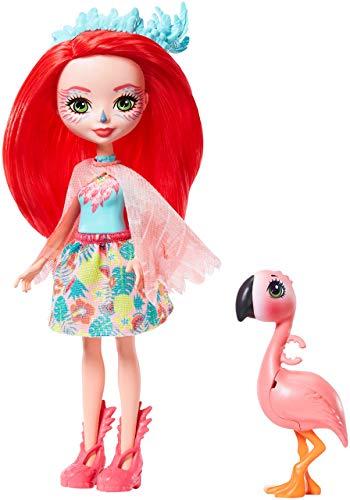 Oferta de Enchantimals-Fanci Flamingo Muñeca con Mascota Swash, multicolor (Mattel GFN42)