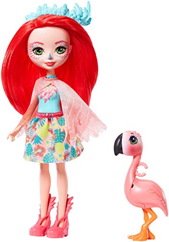 Enchantimals-Fanci Flamingo Muñeca con Mascota Swash, multicolor (Mattel GFN42)