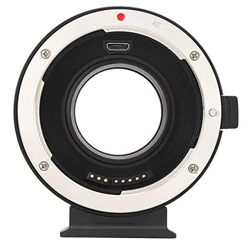 Anello Adattatore per Obiettivo, Lega di Alluminio AEF‑MFT Booster 0.71X Riduzione Focale Adattatore per Montaggio Obiettivo Convertitore per Fotocamera Anello Adattatore per Obiettivo Canon EF per M4
