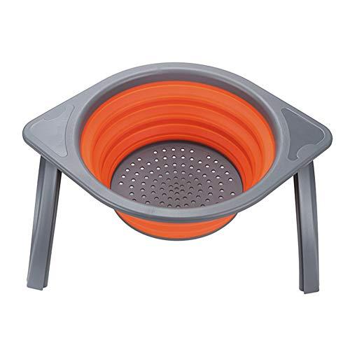 ZUOLUO Bacinella Pieghevole Utensili Cucina Silicone Lavello Setaccio del Cestino Pieghevole Lavaggio Up Ciotole Grande Colino Pieghevole Orange,One Size