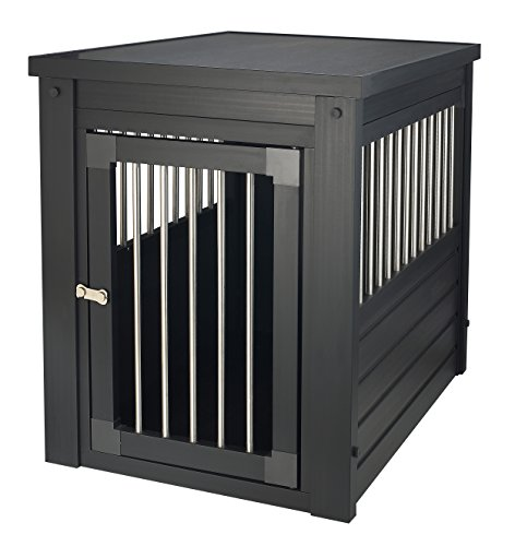 New Age Pet ecoFLEX Pet Crate/End Table, Medium, Espresso