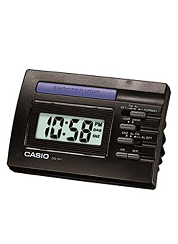 Casio Despertador Digital, Negro, 91x58X64 mm