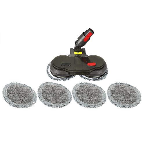 Gesh Cabezal de fregona eléctrico, tanque de agua, 6 paños de fregona para aspiradora V7 V8 V10 V11 limpiar eficazmente el suelo