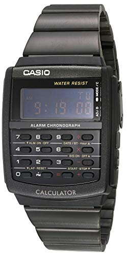 Casio Vintage Calculator Watch Black