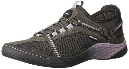 JSport by Jambu Women's Tahoe Encore Sneaker, Dark Grey/Orchid, 8.5 Medium US