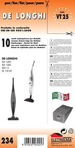 Elettrocasa VT 25 Aspirapolvere verticale Sacchetto per la polvere