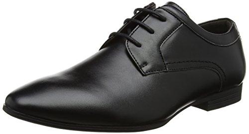 New Look Tuffnell Formal Gibson, Zapatos de Cordones Derby Hombre, Negro (Black 1), 44