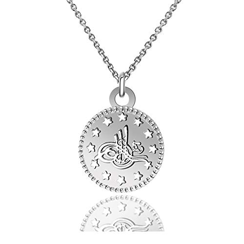 qwertyuio Collar para Mujer Sun Flower Real 925 Collar De Plata Esterlina para Mujer Encantadora Cadena Gold 18K Gargantilla Collar Collar Regalos A