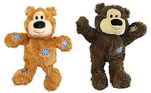 Kong Wild Knots Bears Durable Dog Toys Size:Med/Large Pack of 2