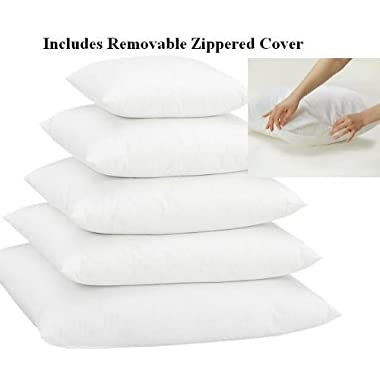 Euro 28  X 28  Pillow Insert w/ Removable Zippered Protector - Exclusively by Blowout Bedding RN# 142035