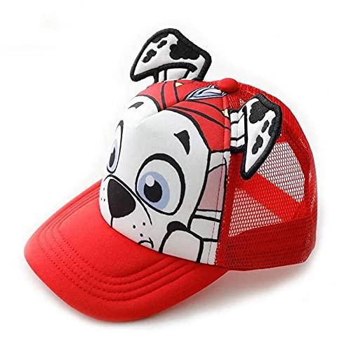 Baseball Kappe Sommermützen Für Kinder Cotton Cute Puppy Print Atmungsaktiver Baseballhut 52 Bis 55 cm Marshall