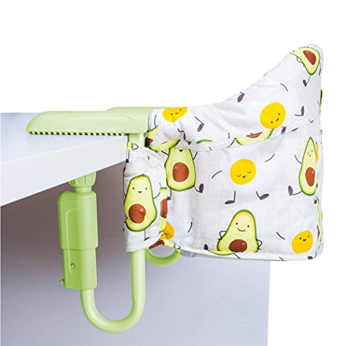 Cosatto Grubs Up Travel Highchair – Secure, Clip-On, Lightweight, Portable, Table-Top Booster, Up to 15kg (Strictly Avocados)