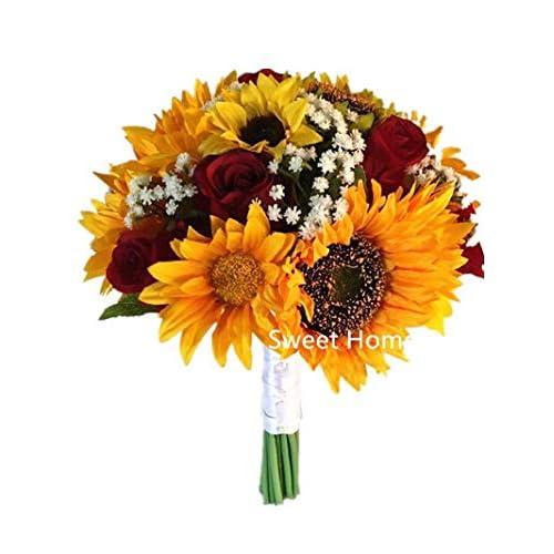 Whole Foods Wedding Bouquet: Sunflower Bridal Bouquets: Amazon.com