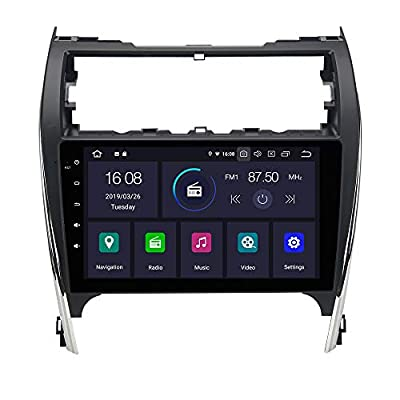 """Dasaita 10.2"""" Android 10.0 Single Din Car Stereo Bluetooth for Toyota Camry 2012 2013 2014 Touch Screen Radio with GPS Navigation 4G Ram 64G ROM Built in DSP Dash WiFi USB Steering Wheel Control"""