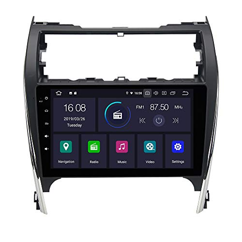 """Dasaita 10.2"""" Android 9.0 Single Din Car Stereo Bluetooth for Toyota Camry 2012 2013 2014 Touch Screen Radio with GPS Navigation 4G Ram 64G ROM Built in DSP Dash WiFi USB Steering Wheel Control"""
