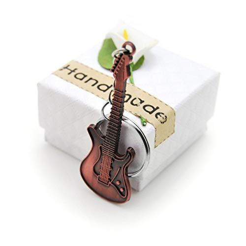 DYL&CDAI Einzigartige Gitarre Legierung Schlüsselanhänger Geldbörse Tasche Schnalle Handtasche Anhänger Für Auto Schlüsselanhänger Frauen Schlüsselanhänger Geschenk, Antikes Kupfer 02