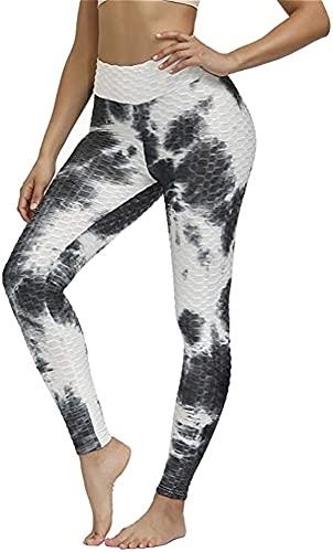 Leggings De Nido De Abeja Para Mujer Pantalones De Yoga Con Levantamiento De Glúteos Leggings De Gofres Anticelulíticos Mallas De Entrenamiento De Cintura Alta Pantalones De Correr Con Textura