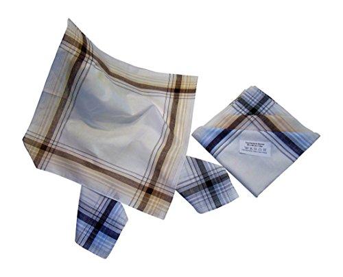 Pañuelo de Bolsillo para Hombres | 12 piezas en 3 colores diferentes | Dibujo a cuadros rojo y verde | Cuadrado 40 x 40 cm | Ocasiones especiales