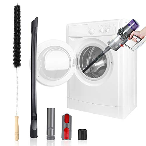 LANMU Dryer Vent Cleaning Kit Compatible with Dyson V6 V7 V8 V10 V11, Flexible Extension Vacuum Hose Adapter Attachment Duct Brush Lint Cleaner Tools