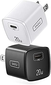 2-Pack INIU 20W USB Type-C Wall Charger Power Adapter Plug