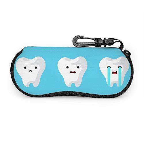 Blanco Conjunto Dental Dientes Clínica Estuche Portátil para Anteojos Estuche Protector para Gafas Resistente a la Abrasión