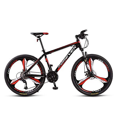Mountain Bike Bicicletta Dell'ammortizzatore della Forcella Anteriore Ruote da 26 Pollici con Telaio in Alluminio A 27 velocità Sistema di Freno A Doppio Disco Mountain Bike Unisex