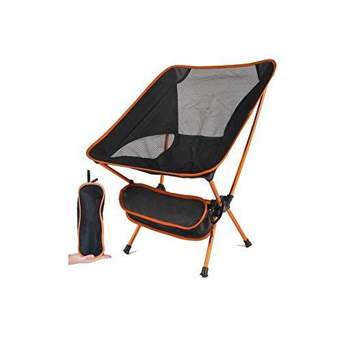 WZM Silla Silla de Camping Portátil Plegable con Bolsa de Transporte Silla de Playa Carga hasta 105 KG para Senderismo Viaje Pesca Playa Jardin Barbacoa Plegable