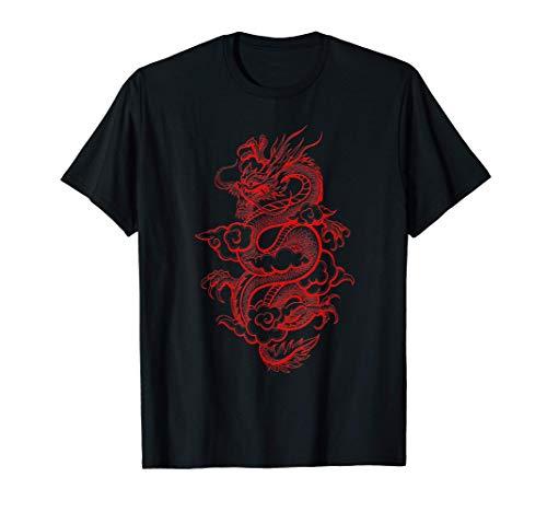 Aesthetic Red Chinese Dragon Grunge Egirl Teen Girls Women T-Shirt