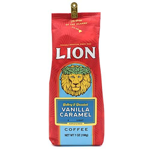 LION COFFEE ライオンコーヒー コーヒー豆 ( 粉 中挽き ) 【 バニラキャラメル 】 198g ハワイ土産 高級 伝統 高級コーヒー アメリカ
