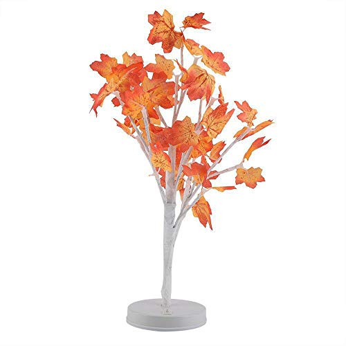 Read About Maple Leaf Pot Light Blossom Desk Top Bonsai Tree Light With 24 LED Beads Hot Selling By ...