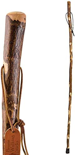 Brazos 55 Free Form Sycamore Rustic Walking Stick Hiking Trekking Pole Made in the USA product image