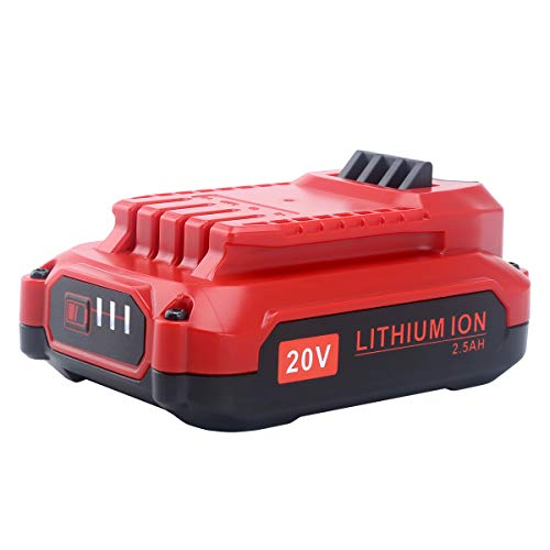 Biswaye 20V 2500mAh MAX Lithium Ion Battery for Craftsman V20 CMCB202 CMCB204, (Only for V20 Series) for Craftsman V20 Cordless Power Tool CMCCSL621D1 CMCST900D1 CMCHTS820D1 CMCCSP20M1 CMCD711C2