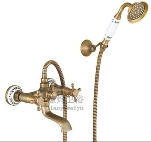 AFUMMID famous Vintage Luxury Brass Shower In a popularity Show System Include Rainfall