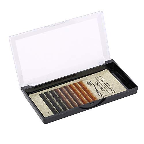 Pestañas postizas Cejas de injerto natural Pestañas postizas Cejas de fibra multicolor Extensión de pestañas Maquillaje para ojos de belleza