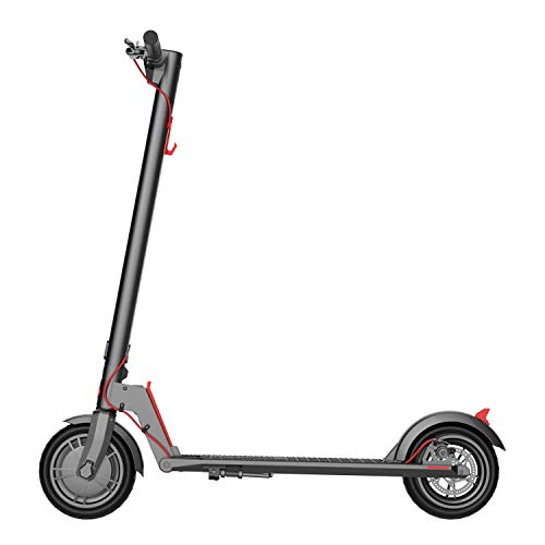 GOTRAX GXL V2 Commuting Electric Scooter - 8.5' Air Filled Tires - 15.5MPH & 9-12 Mile Range - Version 2 (Black)