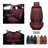 OASIS AUTO Leather Car Seat Covers, Faux Leatherette Automotive Vehicle...