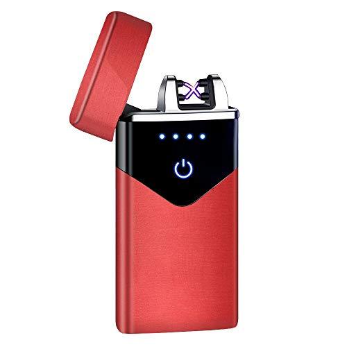 Encendedor eléctrico USB de doble arco Led Plasma Arc Mechero a prueba...