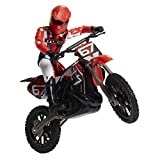 MXS Motocross Bike Toys Moto Extreme Sports, Bike & Rider with SFX Sounds by Jakks Pacific Action Figure Playsets - #67 Red & White Rider, for Kids Ages 5+
