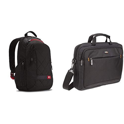 Case Logic DLBP114K Notebook Backpack 35,8 cm (14,1 Zoll) Rucksack Schwarz & Amazon Basics Tasche für Laptop / Tablet mit einer Bildschirmdiagonale von 35,8cm (14,1Zoll)