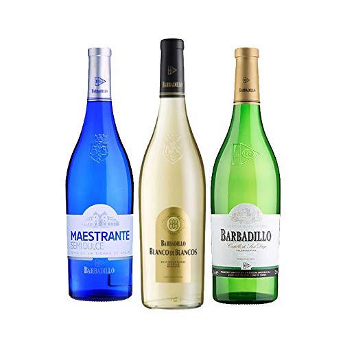 Vinos Blanco de Blancos, Maestrante y Castillo de San Diego - D.O. Tierra de Cadiz - Mezclanza Barbadillo (Pack de 3 botellas)