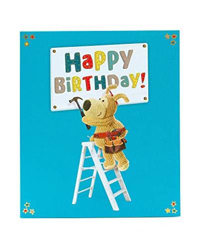 Geburtstagskarte für Ihn – Geburtstagskarte männlich – DIY Geburtstagskarte – Niedliches Boofle-Design