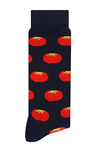 Calcetines Divertidos | Tomate Obscuro| Calcetines Hombre - Calcetines Mujer - Calcetas Unisex | Medias de Vestir o Casuales para Uso Diario - Skunk Socks