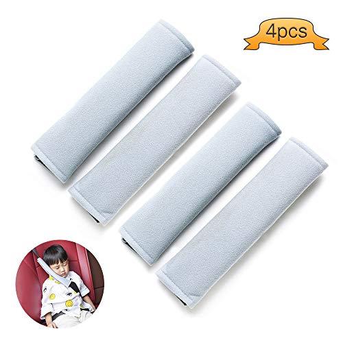 Küchentraumauto-Sicherheitsgurt-Abdeckungs-Auflage, Auto-Sicherheitsgurt-Bügel-Schulter-Auflage für Erwachsene und Kinder (Grau)