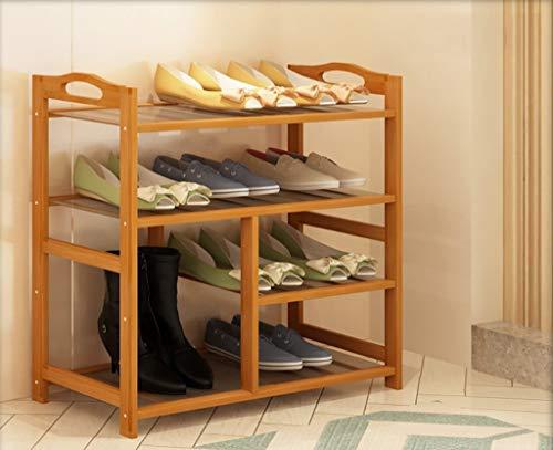 Schuhregal, Bambuslatten Haushalt Home Assembly Schuhkarton Wirtschaftlicher Typ Schuhbank 100% natürlicher Bambus Schuhablage (Größe: A1)